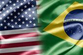 USA and Brazil — Stock Photo