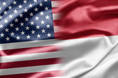 USA and Indonesia — Stock fotografie