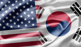 U.S. and South Korea — Stock Photo