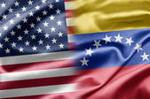 U.S. and Venezuela. — Stock Photo