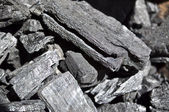 Wood coal — Stockfoto