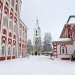 Monastery in the winter — Stock Photo