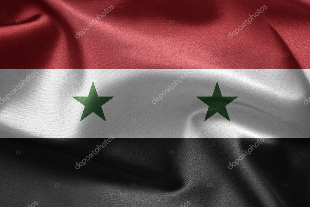 Flag of Syria. Close up.  Stock Photo #8733655