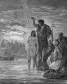 Jana chrzest jezusa. — Zdjęcie stockowe