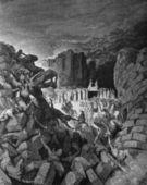 The fall of Jericho. — Stock Photo