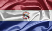Paraguay Flag — Stock Photo