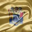 Flag of the state of New Jersey - Stock Photo