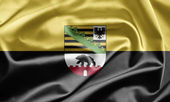 Flag of Saxony-Anhalt — Stock Photo