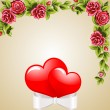 Flowers and hearts - Stock Vector