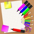 Paper pencils and markers 10 - Stock Vector