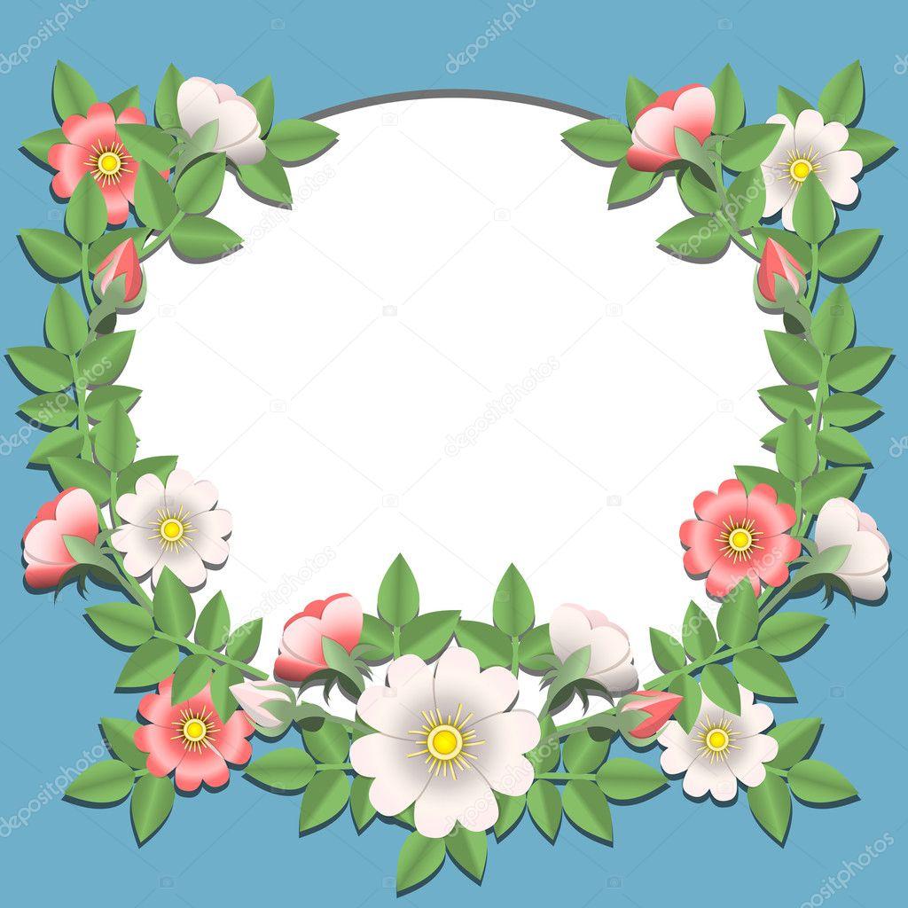 纸花唯美边框图片素材