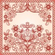 Stylized floral design. Vintage frame. — Stock Vector