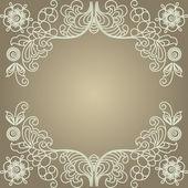 Stylized floral design. Vintage frame. — Stock Vector