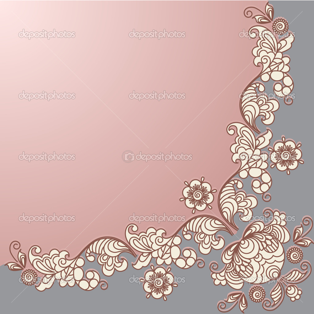 Stylized floral design. Vintage frame.  Stock Vector #8858649