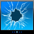Monitor crack - Stock Vector