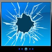 Monitor crack — Stock Vector