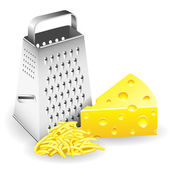 Grater and Cheese — Stock Vector