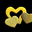 Golden hearts - Stock Photo