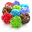Colorful wire balls - Stock Photo