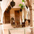 Arab rustic terrace — Stock Photo
