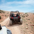 Desert quad riding — Stock Photo