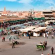 Djemaa el Fna - square in Marrakesh — Stock Photo