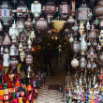 linternas y lámparas árabes — Foto de Stock