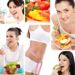 Stock Photo: Dieting collage