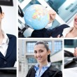 Collage of businesswoman — Stock Photo