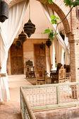 Arab rustic terrace — Stock Photo