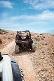 Desert quad riding — Stock Photo