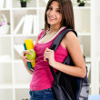 Student girl ready for school — Stockfoto