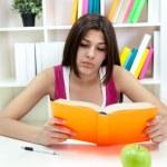 Teenager girl  learning — Stock Photo #10515780