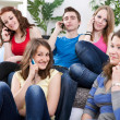 Teenagers with mobile phones — Stock Photo #10515884