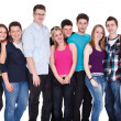 Large group of friends — Stock Photo #10516100