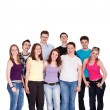 Group of casual happy friends — Stock Photo
