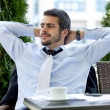 Businessman relaxing - Stock Photo