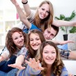 Stock Photo: Young friends having fun