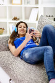 Teenager at home — Stock Photo