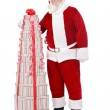 Santa with large stack of present — Stock Photo