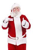 Santa met credit card — Stockfoto
