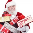 Santa carrying present boxes — Stock Photo #8139731