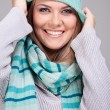 Funny winter woman — Stock Photo #8140079
