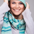 Stock Photo: Funny winter woman