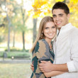 Loving couple embracing — Stock Photo