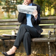 Businesswoman in park on break — Stock Photo #8366955