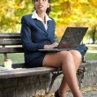 Thinking businesswoman — Stock Photo