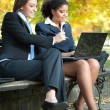 Stock Photo: Two female colleagues