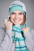 Winter fashion portrait — Stock Photo
