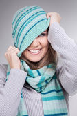 Funny winter girl — Stock Photo